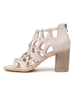 WALLACE Heeled Sandals in Nougat Leather