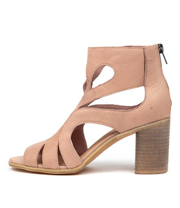WILLIEN Heeled Sandals in Cafe Leather