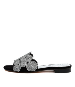 PRINCES Sandals in Black Suede