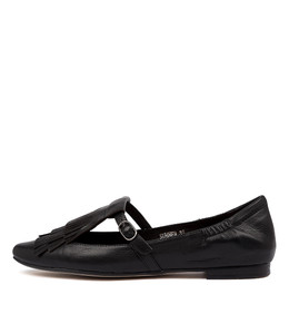SUMNER Flats in Black Leather