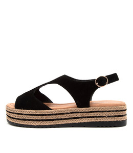ALLIE Sandals in Black Suede