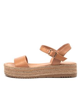 ALETHAS Sandals in Dark Tan Leather