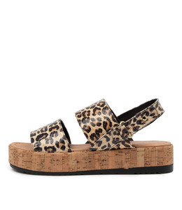 ALECKS Sandals in Ocelot Leather