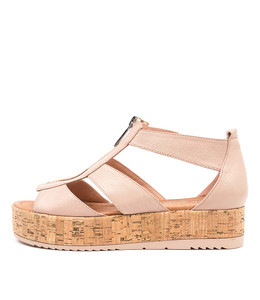 ALLOUT Sandals in Rose Leather