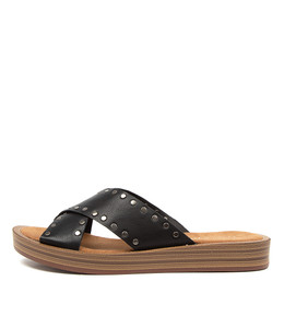 FUNDER Sandals in Black Leather
