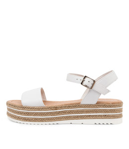 ALETHAS Sandals in White Leather
