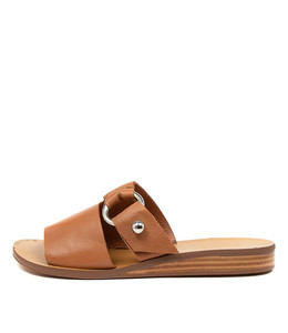 REGAN Sandals in Dark Tan Leather