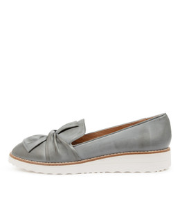 OCLEM Flatforms in Steel Leather