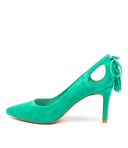 BARING High Heels in Emerald Suede