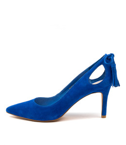 BARING High Heels in Cobalt Suede