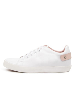 ENLIGHT Sneakers in White/ Pink Leather
