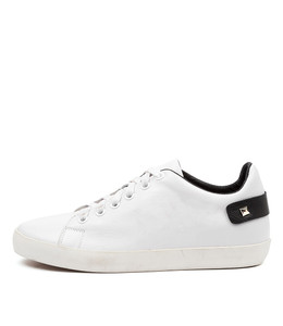 ENLIGHT Sneakers in White/ Black Leather