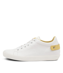 ENLIGHT Sneakers in White/ Yellow Leather