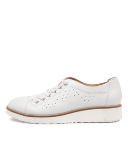 ODRA Flats in White Leather