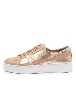 LAIKEN Sneakers in Dark Nude Gold Multi Leather