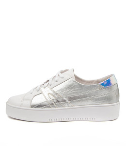 LAIKEN Sneakers in White Silver Multi Leather