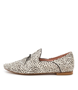SOMMER Flats in Black/ White Speckle Pony Hair