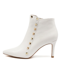 BRYNLEE Ankle Boots in White Leather