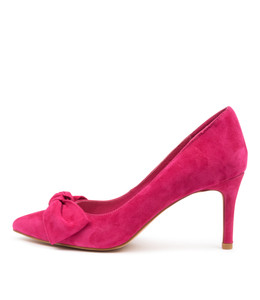 BULLISH High Heels in Fuchsia Suede