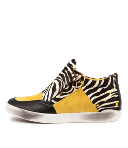 EMMER Sneakers in Yellow/ Zebra Multi Leather