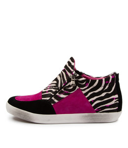 EMMER Sneakers in Hot Pink/ Zebra Multi Leather