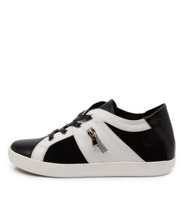 ESSEX Sneakers in Black/ White Multi Leather