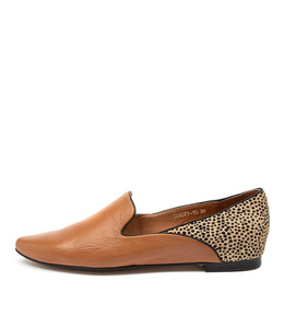 SUNSET Flats in Tan/ Speckle Leather