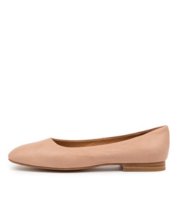 MATTIA Flats in Cafe Leather
