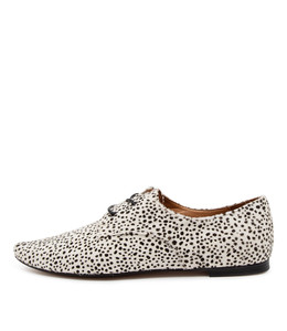 SWEETY Flats in Black/ White Speckle Pony Hair