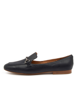 MORRICE Flats in Navy/ Ash Leather