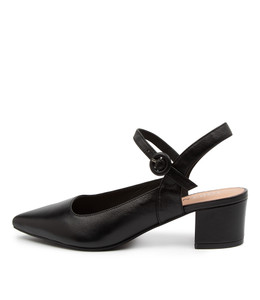 ALFORD Mid Heels in Black Leather