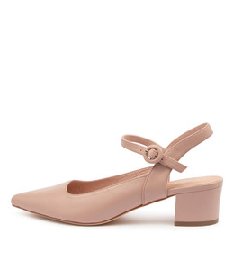 ALFORD Mid Heels in Nude Leather