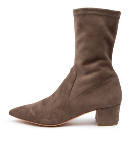 AUSTON Boots in Taupe Microsuede
