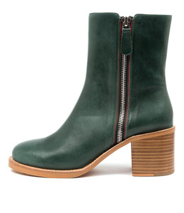 NYMPHIC Ankle Boot in Emerald Leather