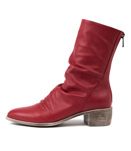 JOETTE Boots in Red Leather