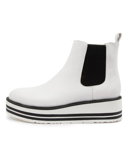 SHANTA Boots in White Leather