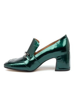 FINA High Heels in Emerald Patent Croc Leather