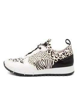 JOYA Sneakers in White Multi Leather