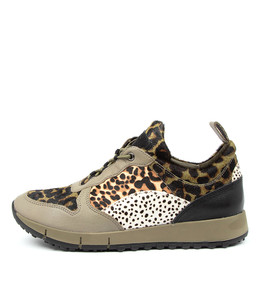 JOYA Sneakers in Olive Multi Leather