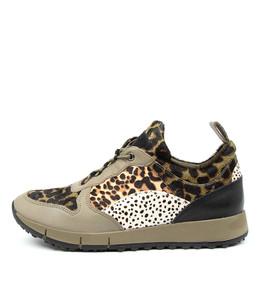 JOYA Sneakers in Olive Multi Leather