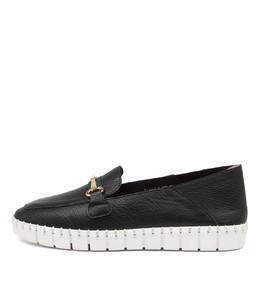 KOOPLE Flats in Black Leather