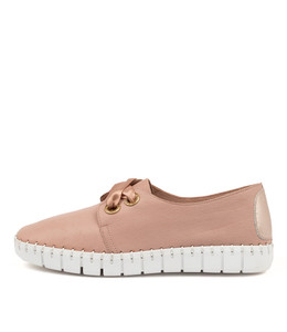 KRISTA Flats in Warm Rose Leather