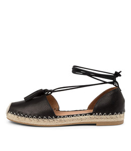 TYRIE Flats in Black Leather
