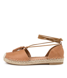 TYRIE Flats in Tan Leather