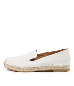 TIYA Flats in White Leather