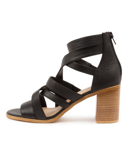 WITT Heeled Sandals in Black Leather