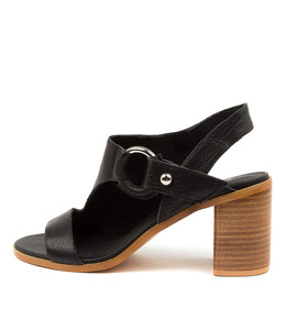 WITCHET Heeled Sandals in Black Leather
