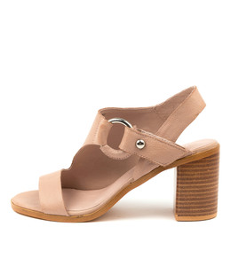 WITCHET Heeled Sandals in Cafe Leather