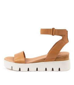 RYLITAS Sandals in Dark Tan Leather