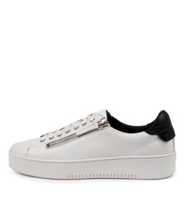 LITZY Sneakers in White/ Black Leather